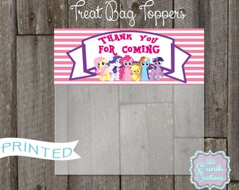 My little Pony Treat Bag Toppers-Candy Bag Toppers-Party Favors Toppers-Printed