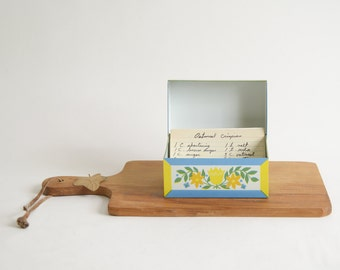 Vintage Metal Recipe Holder 4 x 5 Recipe Box Mid Century Modern Recipe Holder Kitchen Decor