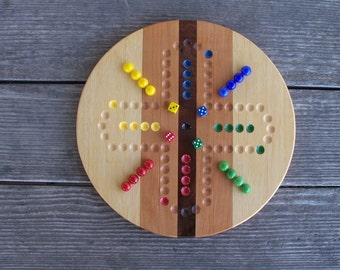 Hand crafted 4 player aggravation game board