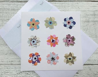 Floral Note Cards, Garden Greeting Cards, Bouquet of Flowers Note Cards, Thank You Cards, Mother's Day Cards, Set of 4