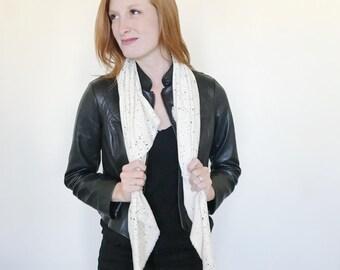 White Black Speckle Blanket Scarf