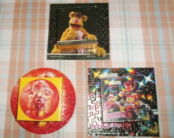 Springbok Muppets Mini Jigsaw Puzzles 60-70 Pcs Dr. Teeth and Electric Mayhem Band, Miss Piggy on Motorcycle, Fozzy Bear Forgot