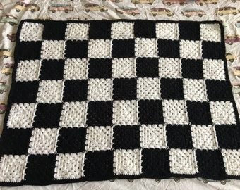Chequered flag baby blanket