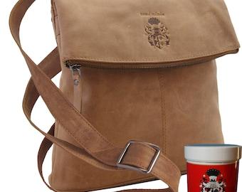 Women's shoulder bag VENICE of brown genuine leather - BARON of MALTZAHN