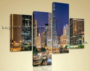 Chicago Wall Art chicago art canvas | etsy