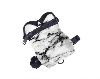 Dog Backpack / Dog Harness Black White Marble Print - Pug, Frenchie & More