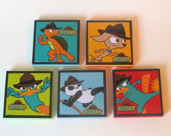 Perry the Platypus OWCA Note Pads Set of 5 - Excellent Party Favors - Perry the Platypus - Phineas Ferb Birthday Party
