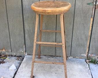 Metal/Wooden Stool-Bar Stool- Kitchen Stool