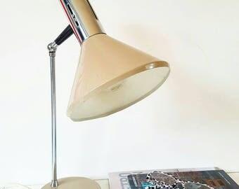 Sixties metal desk light
