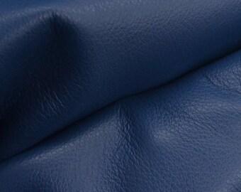 """Regal Royal Blue """"Signature""""  Leather Cow Hide 8"""" x 10"""" Pre-Cut 2 1/2-3 oz flat grain DE-52177 (Sec. 8,Shelf 3,C)"""