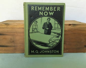 Remember Now A Story for Boys by M.Q. Johnston Book