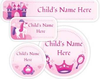 Baby Girl Name Sticker - Daycare Labels for Girl - Princess Name Sticker - Custom School Label - Girl Baby Bottle Labels - Sippy Cup Labels