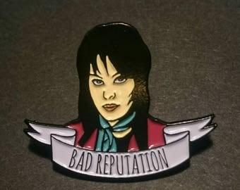 2 PACK! Joan Jett inspired Enamel Pin Badge - Limited Edition - Bad Reputation The Runaways