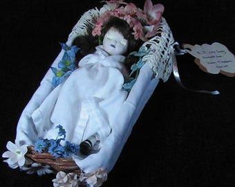 Victorian Memento Mori, Little Sally, Dead Doll, Horror Doll, Macabre dead Doll, Morbid Doll, Handpainted Horror Doll, OOAK Creepy Doll