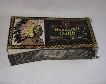 Vintage Boy Scout bead kit beadcraft outfit