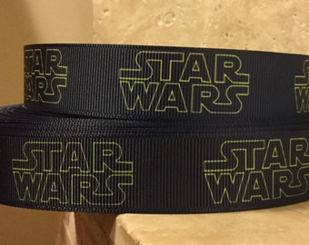 5 YDS Navy Blue Star Wars Ribbon