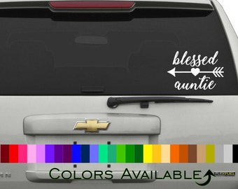 Blessed Auntie Car Decal