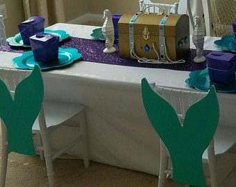 6 mermaid tails chair covers/decorations