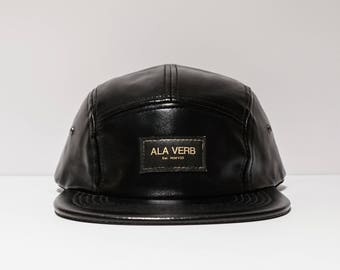Black and Gold Leather 5 Panel