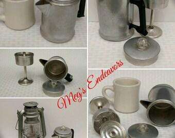 Vintage Mirro Percolator, Unique Small Size, Two Cup Coffee Pot, Tea Pot, Aluminum Made in USA