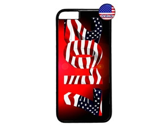 New Year 2017 USA American Flag Case Cover for iPhone 4 4s 5 5s  5C 6 6s 6 Plus 7 7 Plus iPod Touch 4 5 6 case Cover