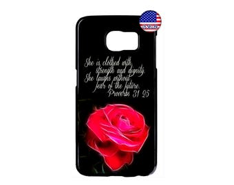 I Can Do Christian Bible Verse Rose Hard Rubber TPU Case Cover For Samsung Galaxy S8 S7 S6 Edge Plus S5 S4 S3 NOTE 5 4 3 2 iPod Touch 4 5 6