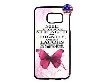 Christian Bible Verse Proverbs Pattern She Is Hard Rubber Case Cover For Samsung Galaxy S8 S7 S6 Edge Plus S5 S4 S3 NOTE 5 4 3 2 iPod 4 5 6