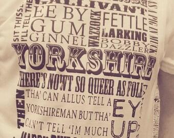 Yorkshire Sayings Vintage Print T Shirt