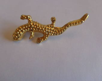 Gecko or Lizard goldtone brooch Gold Toned AAI Brooch Gold Toned Lizard Brooch Pin Lizard Brooch
