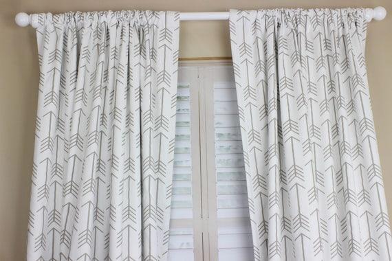 Boy Nursery Curtains Arrow Curtains Elephant Curtains Navy Blue Geometric  Curtain CUSTOM Spoonflower Curtain Panel Set Boy Curtains Set Of 2