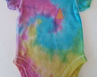 0-3 months Art4Arthur Hand Tie Dyed Baby Onesie