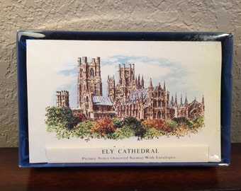Vintage Ely Cathedral Notecards by Judges Ltd. Set of 10 Assorted Notecards and Envelopes  Made in Hastings England in Excellent Condition