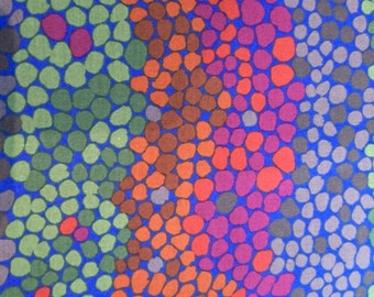 Pebble Mosaic Cobalt by Brandon Mably Sold in 1/2 yd increments