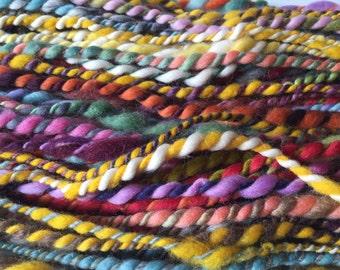 Multicolor Bulky Handspun Artyarn - handspun yarn - artyarn - multicolor yarn - rainbow handspun yarn