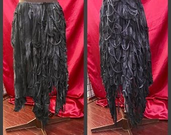 Asymmetrical Pixie Skirt dark fairy unseelie mummy mesh s m l xl xxl