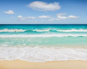 "Tropical beach photography greeting card - 5x7"" frameable"