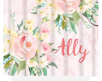 Personalized Shower Curtain | Gift for Her | Shower Curtain