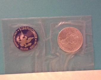 Eisenhower Uncirculated 1971 silver dollar