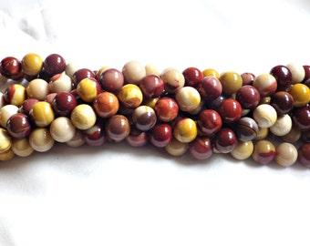 Mookaite Round Beads - 10mm