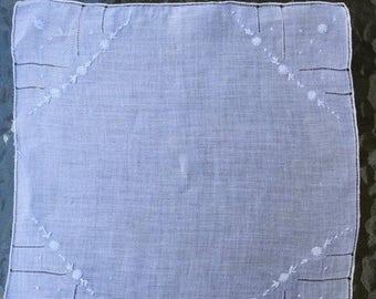 SALE Handkerchief Bridal Bridesmaid Handkerchief Madeira Cotton Cutwork, Blossoms and Garland Embroidery
