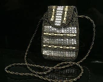 Handmade Handicraft Jewel Mobile Cell Phone Soft Pouch
