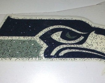 "2"" Heat Transfer SEAHAWKS or COWBOYS glitter heat transfer Absolutely adorable"