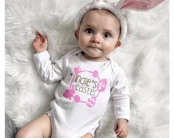 1st Easter Bodysuit T-Shirt Top/Vest Glitter for Girl/Baby/Boys
