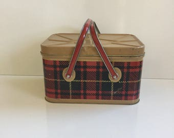 Vintage Scotch Picnic Tin Large