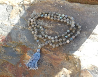 Blue Flash Labradorite Mala