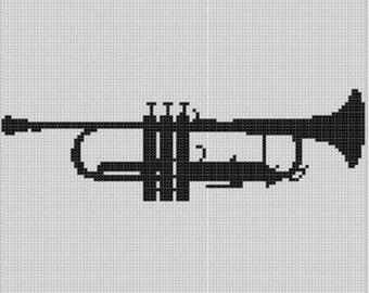 Trumpet Cross Stitch Pattern
