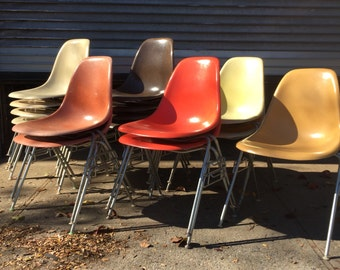Eames for Herman Miller Stacking Chairs in Autumn Colors
