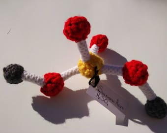 Crocheted Sulphuric acid molecule