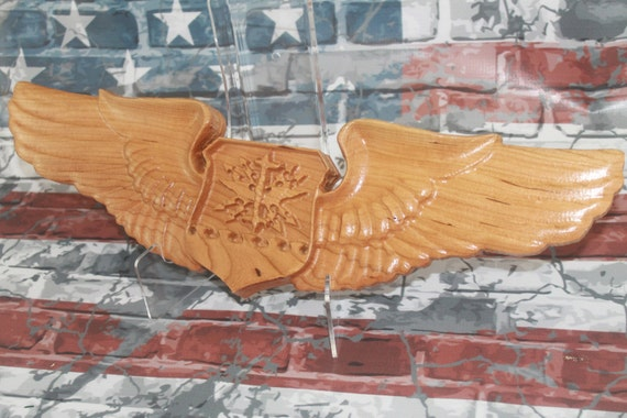 U.S. Air Force Navigator Wings, Carved wood working, aviation art, aviation , Navigator wings, carved wings, air force gifts