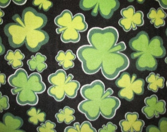 Lucky Irish Clover Fleece Fabric 1 yard + 2 inches RARE VHTF